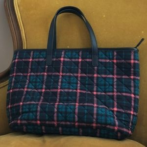 NBU - Talbots - Small Quilted Plaid Tote Bag